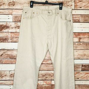 Levis 501 Straight Leg Button Fly Mens Jeans